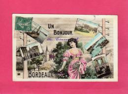 33 Gironde, Un Bonjour De Bordeaux,  Multivues, 1916, (Mille) - Bordeaux