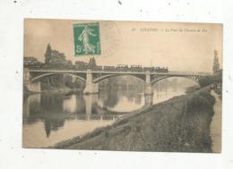 Cp, 78 ,  CHATOU , Chemin De Fer ,train ,le Pont Du Chemin De Fer ,  Voyagée - Trains