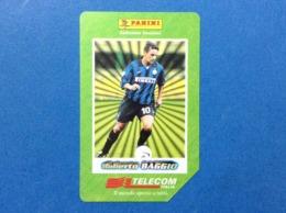 ITALIA SCHEDA TELEFONICA TELECOM USATA PHONE CARD USED I GRANDI ACQUISTI 1998 99 PANINI ROBERTO BAGGIO - Italia