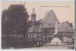 LESCHELLES (Aisne) - Le Monument Et L'Eglise - Crédit National - Société Générale - France
