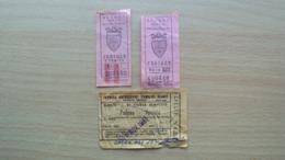 3 BIGLIETTI PER TRAM TRANVIE ED AUTOSERVIZI TRIESTE PADOVA TREVISO - Andere Sammlungen