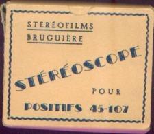 STEREOSCOPE BRUGUIERE + Boîte D'origine + 16 Boîtes De Vues Stéréoscopiques - Visionneuses Stéréoscopiques