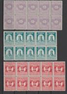 Roumanie 1927  Série Cinquantenaire De La Société De Géographie 319 à 323 5 Val ** MNH En Bloc De 10 - 1918-1948 Ferdinand I., Charles II & Michel