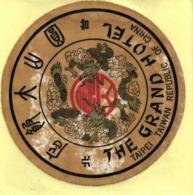 Autocollant THE GRAND HOTEL  TAIPEI TAIWAN REPUBLIC OF CHINA  RV - Chine