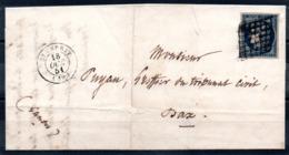 SUPERBE - YT N° 4h Bleu Noir Sur Lettre - Pas Courant - 1849-1850 Ceres