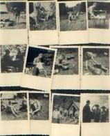 CAMP A CIERGNON Avec Le PRINCE BAUDOUIN (1943) – Lot De 40 Photos - Scoutisme