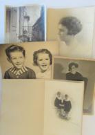Lot De 5 Grandes Photos Anciennes De Studios (femmes Et Enfants) Dont Studio Hery, Studio Berthe, Jacquet Etc.... - Personnes Anonymes