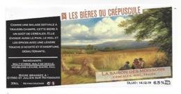 Etiquette De Bière Céréales Miel Epicée  Du Crépuscule  -  La Saison Des Moissons  - Saint Julien Sur Reyssouze  (01) - Bière
