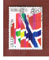 NORVEGIA (NORWAY) -   SG 1151  - 1992 WINTER OLYMPIC GAMES        - USED ° - Norvegia