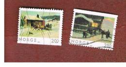 NORVEGIA  (NORWAY)    SG 924.925  -   1983 CHRISTMAS (COMPLET SET OF 2)  -      USED ° - Norvegia