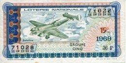"""BILLET DE LOTERIE De 1969 Sur Le Thème """"L'Aviation : LEO 45"""" - Billets De Loterie"""