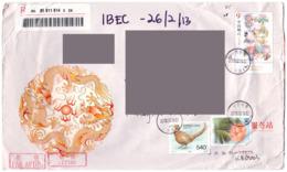 China Private Cover Flower Pheasant Nature Fauna Bird Wildlife Biodiversity Ornithology Dragon Envelope - Poste Aérienne