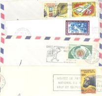 Haute-Volta : Lot De 8 Enveloppes Entières Avec Cachet Et Flammes, Plus 18 Timbres Oblitérés (bon état) (3 Scans) - Haute-Volta (1958-1984)