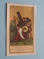 ZEVENDE STATIE Jezus Valt Ten Tweede Male Onder Het Kruis ( B. Kühlen, M. Gladbach ) Achterzijde 6de Statie / Gebed ! - Religion & Esotérisme