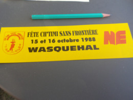 Autocollant - Ville - WASQUEHAL CH TIMI 1988 - Pegatinas