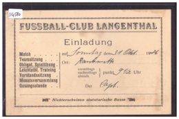 LANGENTHAL - FUSSBALL CLUB - FOOTBALL - TB - BE Berne