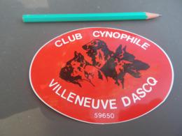Autocollant - Ville - VILLENEUVE D'ASCQ - CLUB CYNOPHILE - CHIEN - Pegatinas