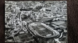 CPSM STADE STADIUM BONE ALGERIE VUE AERIENNE COTE NORD EST DE LA VILLE 1957 CIM  TIMBRE ENLEVE - Estadios