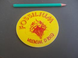 Autocollant - Ville - VILLENEUVE D'ASCQ - FOSSILIUM - Pegatinas