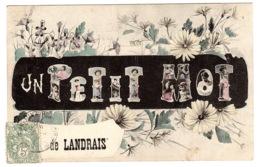 LANDRAIS (17) - Carte Fantaisie - UN PETIT MOT DE LANDRAIS - FLEURS - Andere Gemeenten