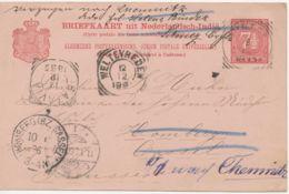 NIEDERLÄNDISCH-INDIEN GANZSACHEN 1895 7 1/2 C. GA Von PANGKAL PINANG INSEL BANKA - Nederlands-Indië