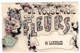 LANDRAIS (17) - Carte Fantaisie - JE VOUS ENVOIE CES FLEURS DE LANDRAIS - FLEURS - Andere Gemeenten