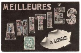 LANDRAIS (17) - Carte Fantaisie - MEILLEURES AMITIÉS DE LANDRAIS - FLEURS - Andere Gemeenten