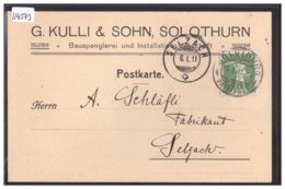 SOLOTHURN - BAUSPENGLEREI UND INSTALLATIONS GESCHÄFT G. KULLI & SOHN - TB - SO Solothurn