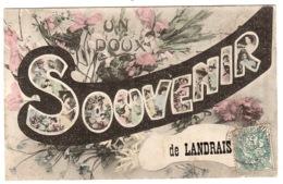 LANDRAIS (17) - Carte Fantaisie - UN DOUX SOUVENIR DE LANDRAIS - FLEURS - Andere Gemeenten