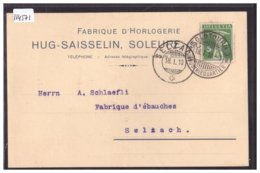SOLOTHURN - FABRIQUE D'HORLOGERIE HUG-SAISSELIN - TB - SO Solothurn