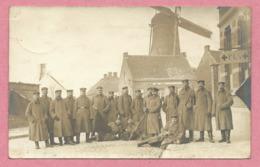 Belgique - Pays Bas - Carte Photo - Foto - Moulin à Vent - Wind Mühle - Soldats - A Localiser - Feldpost - Guere 14/18 - Belgique