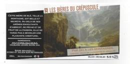 Etiquette De Bière Abricot Passion Du Crépuscule  - Par Delà Les Montagnes  - Saint Julien Sur Reyssouze  (01) - Bière
