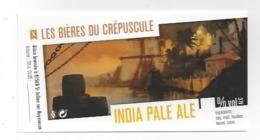 Etiquette De Bière Du Crépuscule  -  India Pale Ale  - Saint Julien Sur Reyssouze  (01) - Bière