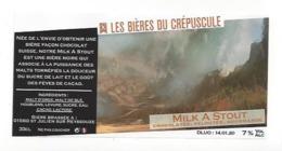 Etiquette De Bière Du Crépuscule  -  Milk A Stout  - Saint Julien Sur Reyssouze  (01) - Bière
