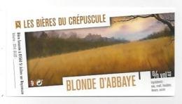 Etiquette De Bière Du Crépuscule  -  Blonde D'Abbaye  - Saint Julien Sur Reyssouze  (01) - Bière