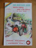 Club Motocycliste Sucéen. Moto-Cross Et Side-Car-Cross. 15 Mai 1955 Aux Buttes De La Rivière (Sucé-Sur-Erdre - 44) - Programmes