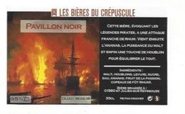 Etiquette De Bière Du Crépuscule  -  Pavillon Noir  - Saint Julien Sur Reyssouze  (01) - Bière