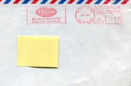 47363 Australia, Red Meter Freistempel 1990 Pfizer, Pharmaceutical Corporation - Postmark Collection