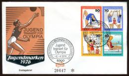 07614) BRD - Mi 882 / 885 - FDC - Jugend Trainiert Für Olympia 1976 - FDC: Sobres
