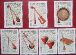 Uzbekistan  2006  National Musical Instruments  7 V  MNH - Music