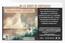 Etiquette De Bière Du Crépuscule  -  De Noël  -  Post Noël  - Saint Julien Sur Reyssouze  (01) - Bière