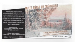 Etiquette De Bière Du Crépuscule  -  Premières Neiges  - Saint Julien Sur Reyssouze  (01) - Bière