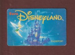 EURO DISNEYLAND - PARIS - Passeport D'entrée Au Parc - 2 Scannes. Recto & Verso - Tickets D'entrée