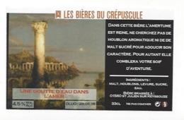 Etiquette De Bière Du Crépuscule  -  Une Goutte D'Eau Dans L'Amer  - Saint Julien Sur Reyssouze  (01) - Bière