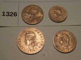 Lots Pièces Nouvelles Hébrides - Münzen