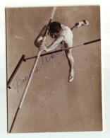 Roman Lešek CELJE SLOVENIA ATHLETICS Pole Vault SKOK S MOTKOM Authograph SIGNATURE - Athletics