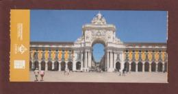 Ticket D'entrée - LISBONNE . Arc De Triomphe De La Rue Augusta  - 2 Scannes. Recto & Verso - Tickets D'entrée
