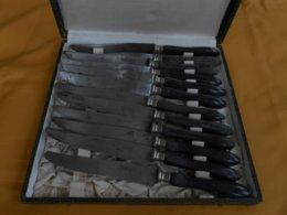 Couteaux - 12 Couteaux Anciens 76 Véritable Bernard- - Silverware