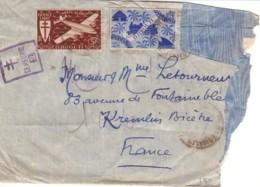 DJIBOUTI : Lettre Censurée Pour La France - Costa Francese Dei Somali (1894-1967)