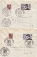 FRANCE : 1954 - Lot De 2 FDC - De Lattre - Rhin Et Danube - Salon De L'Armée - 1950-1959